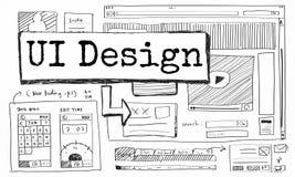 Вебсайт дизайна создает концепцию плана шаблона Стоковые Фотографии RF