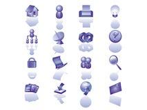 вебсайт иконы установленный Стоковое Фото