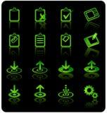 вебсайт интернета иконы установленный Стоковое Изображение