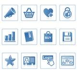 вебсайт интернета иконы i Стоковая Фотография