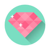 Вебсайт иллюстрации вектора значка диаманта плоский Стоковые Изображения RF