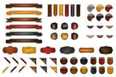 вебсайт набора кожаный Стоковое фото RF