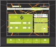 вебсайт перемещения шаблона конструкции Стоковое Фото