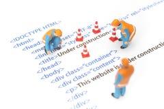 Вебсайт под конструкцией Стоковое Изображение