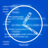Вебсайт под шаблоном дизайна конструкции Стоковые Фото