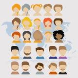 вебсайт сети проекта представления людей интернета икон применения ваш Стоковые Фото