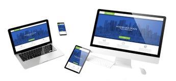 вебсайт современного дизайна приборов летания отзывчивый стоковые фото