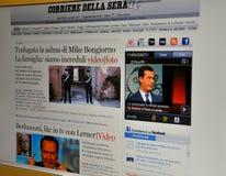вебсайт сывороток della corriere Стоковая Фотография