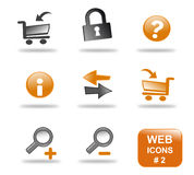 вебсайт части 2 икон установленный Стоковая Фотография