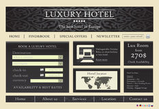 вебсайт шаблона гостиницы Стоковое Изображение RF