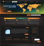 вебсайт шаблона дела Стоковое фото RF
