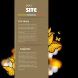 вебсайт шаблона конструкции ретро иллюстрация вектора