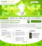 вебсайт шаблона плана eco Стоковые Изображения RF