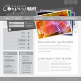 вебсайт шаблона решетки 960 серых цветов Стоковые Изображения RF