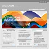 вебсайт шаблона решетки 960 серых цветов Стоковое Фото