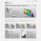 вебсайт шаблона решетки 960 серых цветов Стоковая Фотография