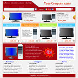 вебсайт шаблона электронной коммерции Стоковое фото RF