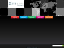 вебсайт шаблона Стоковая Фотография