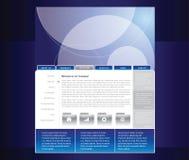 вебсайт шаблона Стоковое Изображение RF