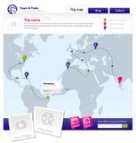 вебсайт шаблона Стоковые Изображения