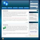 вебсайт шаблона Стоковые Фотографии RF