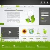 вебсайт шаблона eco зеленый Стоковые Фотографии RF