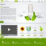 вебсайт шаблона eco зеленый Стоковое фото RF