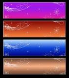 вебсайт 4 знамен Стоковое Изображение RF