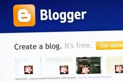 вебсайт blogger Стоковая Фотография RF
