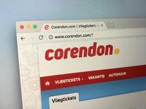 Вебсайт Corendon Стоковая Фотография RF
