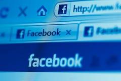 вебсайт facebook Стоковые Фотографии RF