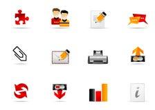 вебсайт melo интернета 5 икон установленный Стоковые Фотографии RF