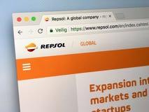 Вебсайт Repsol Стоковые Изображения RF