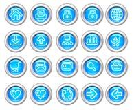вебсайт silvero лоснистого интернета иконы установленный Стоковое Изображение RF