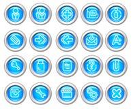 вебсайт silvero лоснистого интернета иконы 2 установленный Стоковые Изображения