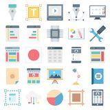 Веб-дизайн, данные и изолированные развитием значки вектора иллюстрация вектора