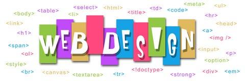 Веб-дизайн красочный Стоковое Фото