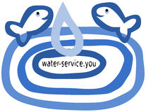 Веб-дизайн для компаний работая с водой или животными воды Стоковое Фото