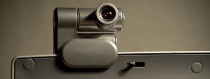 Веб-камера на экране компьютера a Стоковое Фото
