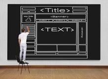 Веб-страница шаблона чертежа Стоковые Изображения RF