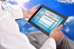 Веб-страница шаблона Стоковое Фото
