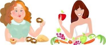 Вегетарианец и Сладостн-зуб Стоковое фото RF
