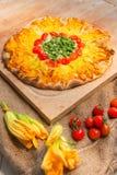 Вегетарианская пицца Стоковые Изображения RF