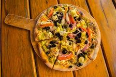 Вегетарианская пицца Стоковое фото RF
