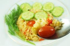 Вегетарианские жареные рисы Стоковые Изображения RF