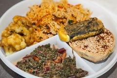 Вегетарианские индийские блюда Стоковые Фотографии RF