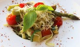 Вегетарианские макаронные изделия Стоковые Фотографии RF