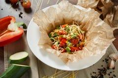 Вегетарианские макаронные изделия Стоковое Фото