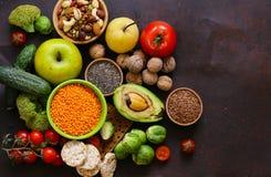 Вегетарианские продукты питания Стоковое Изображение
