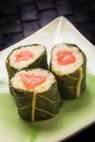 Вегетарианские суши с цветками Стоковое фото RF